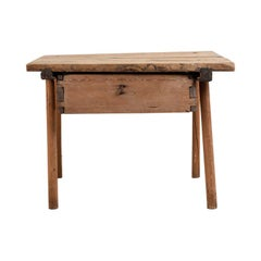 17th Century Old Fashioned Swedish Primitive Folk Art Table