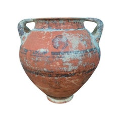 17th Century or Earlier Cypriot Phoenician Terracotta Jar with Bull's Eyes