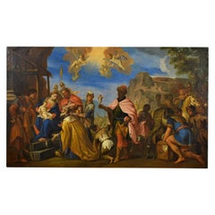 17th Century Painting by Italian School, Adoration of the Magi