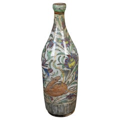 17th Century Persian Wine Bottle or Vase Repaired with Kintsugi Method