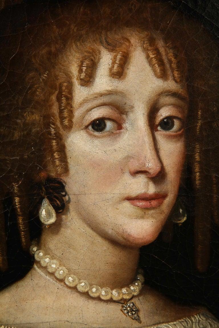 17th Century Portrait of a Noblewoman For Sale 4