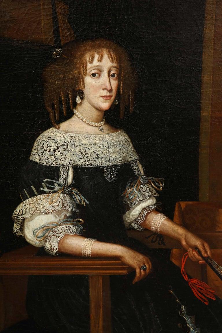 17th Century Portrait of a Noblewoman For Sale 6
