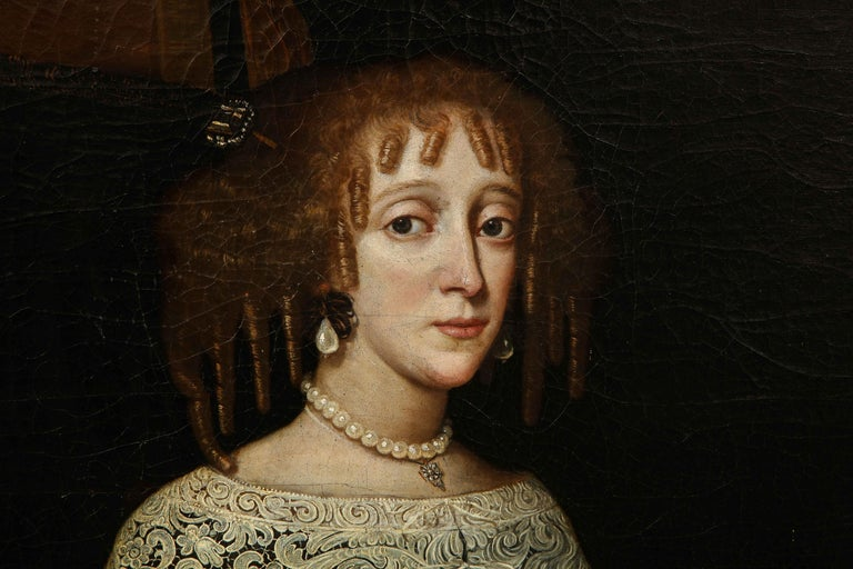 Baroque 17th Century Portrait of a Noblewoman For Sale