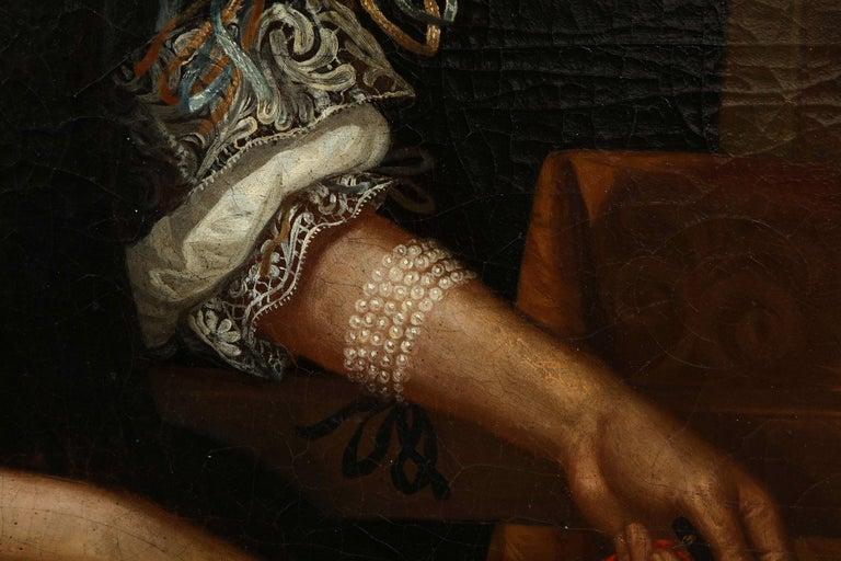 17th Century Portrait of a Noblewoman For Sale 1