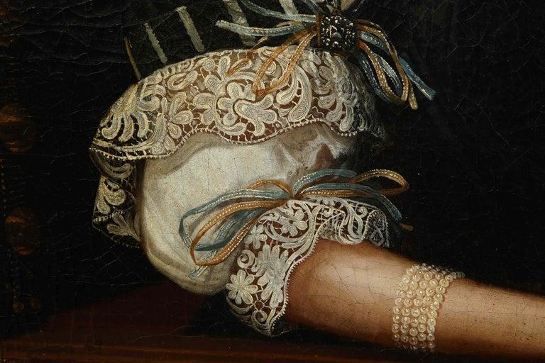 17th Century Portrait of a Noblewoman For Sale 2