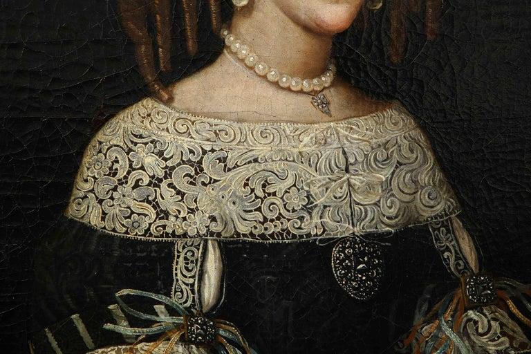 17th Century Portrait of a Noblewoman For Sale 3