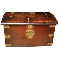 17th Century Portugese Mahogany Chest or Box