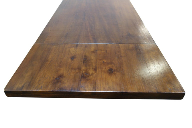 17th Century Refectory Style Dining Table with End Extensions, Custom Sizes For Sale 2