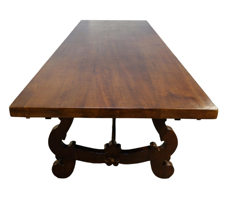 17th Century Refectory Style Dining Table with End Extensions, Custom Sizes In New Condition For Sale In Encinitas, CA