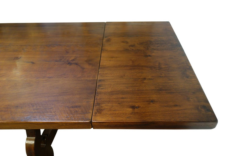 17th Century Refectory Style Dining Table with End Extensions, Custom Sizes For Sale 1