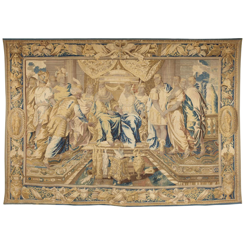 17th Century Regal Flemish baroque Historical tapestry Royal court Antiques LA
