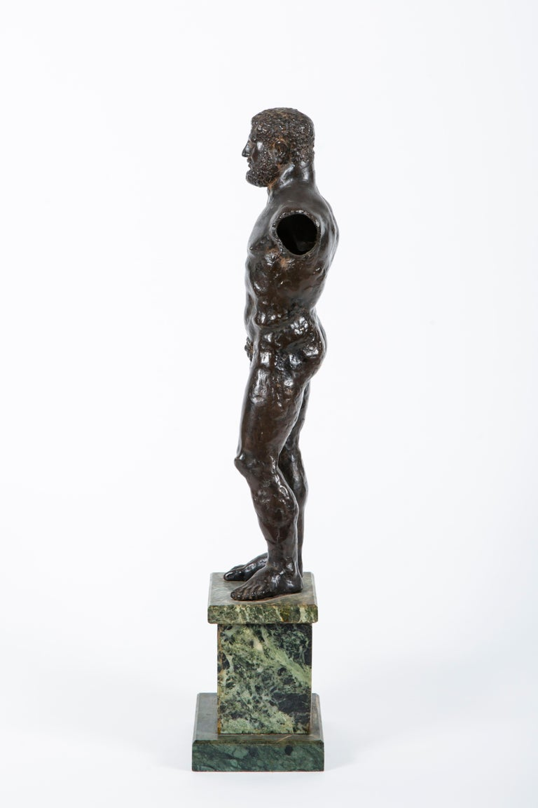 18th Century and Earlier 17th Century Renaissance Bronze of Hercules For Sale