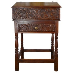 17th Century Renaissance Italian Chestnut Leggio Music Desk, Base Lectern Table