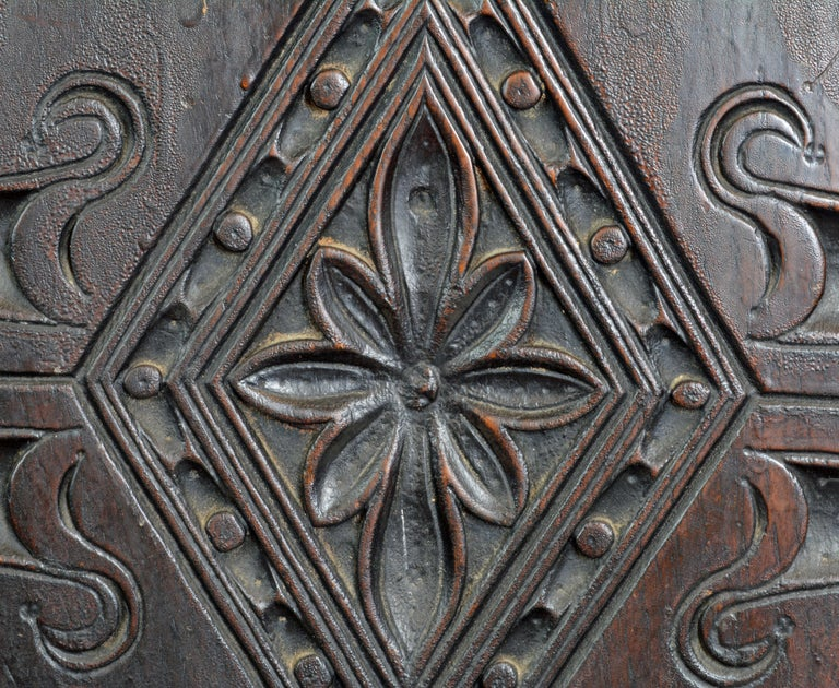17th Century Richly Carved Elizabethan Joined Oak Wainscot Style Chair 9