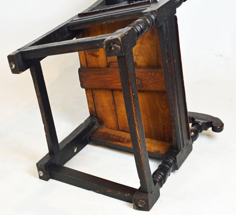 17th Century Richly Carved Elizabethan Joined Oak Wainscot Style Chair 11