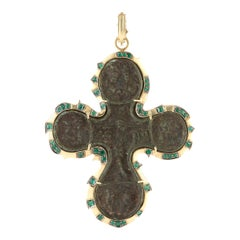 17th Century Russian Cross Icon Pendant