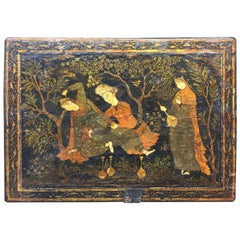 17th Century, Safavid Painting on a Wooden Panel