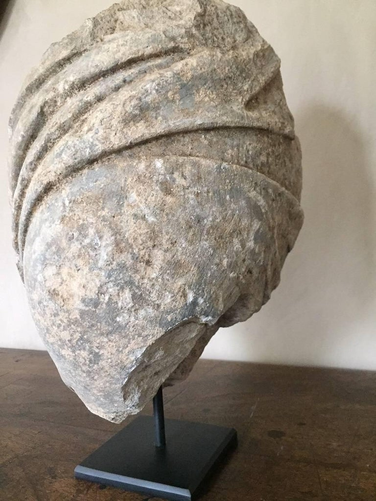 Sandstone 17th Century Sculpture Shoulder Fragment in Roman Classical Style For Sale