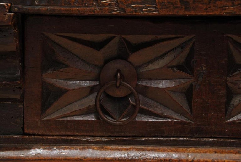 18th Century and Earlier 17th Century Spanish Carved Walnut Table For Sale
