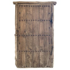17th Century Spanish Chestnut Wood Door with Iron