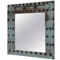 17th Century Spanish Door Frame Mirror with Original Hardware