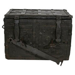 17th Century Spanish Iron with Wood Strongbox