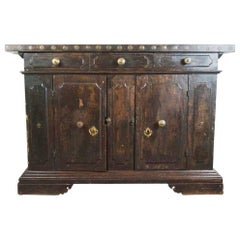 17th Century Spanish Renaissance Walnut Credenza