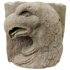 17th Century Spanish Stone Bass-Relief Eagle Head