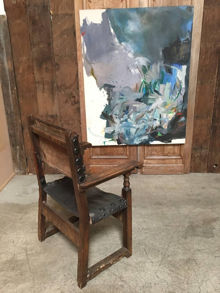 European 17th Century Spanish Throne Armchair For Sale