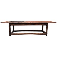 17th Century Spanish Walnut Bench, circa 1690