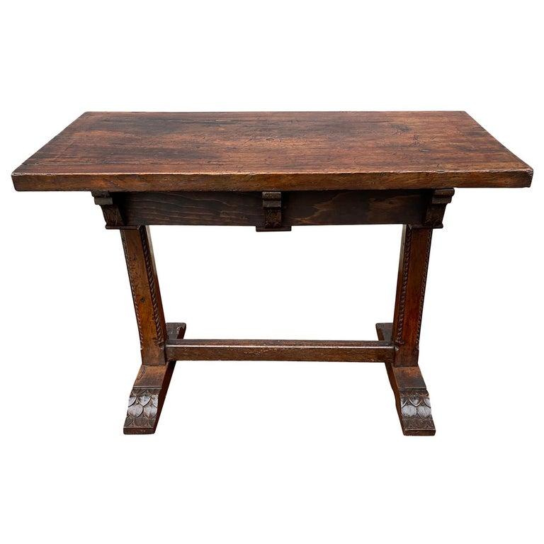 17th Century Spanish Walnut Trestle Table For Sale