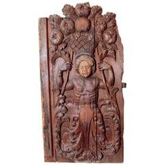17th Century Spanish Wooden Door