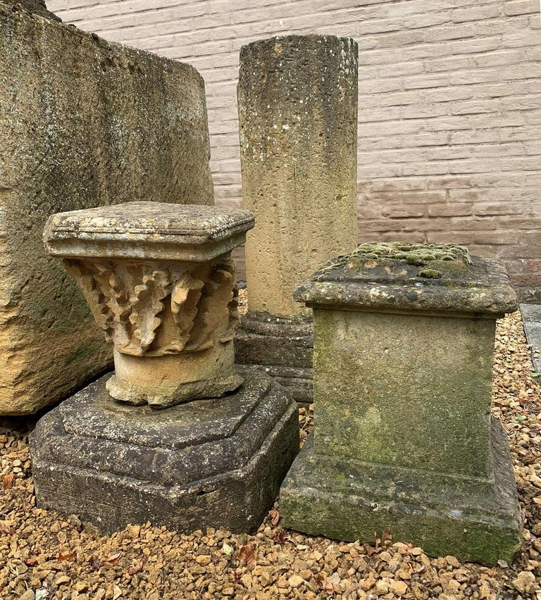 Hand-Carved 17th Century Stone Capital For Sale