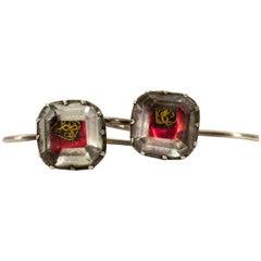 17. Jahrhundert Stuart Crystal Silber Earrings