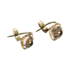 17th Century Stuart Crystal Silver Gold Earrings