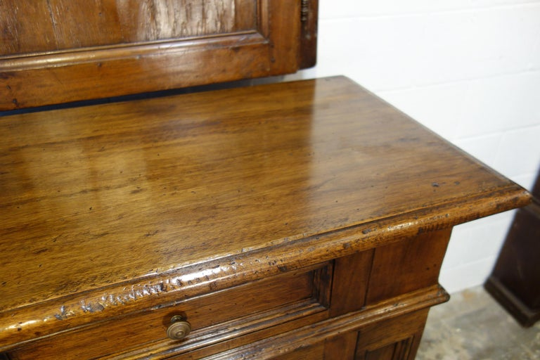17th Century Style Italian Classic Old Walnut Credenza, Custom Cabinet Line For Sale 9