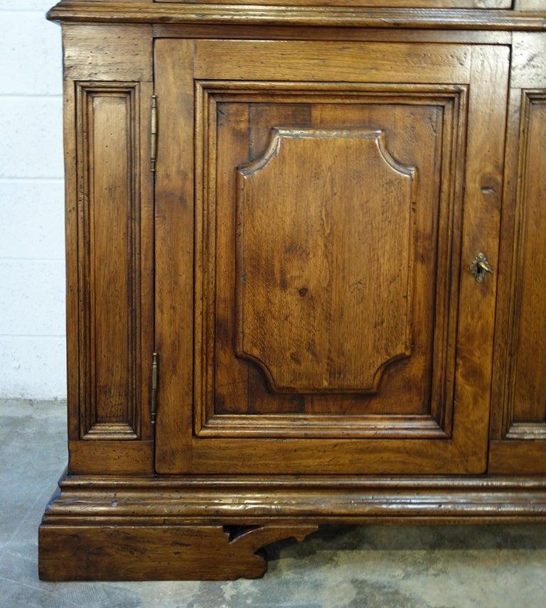 Iron 17th Century Style Italian Classic Old Walnut Credenza, Custom Cabinet Line For Sale