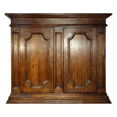 17th Century Style Italian Rustic Old Poplar 2-Door Credenza, Custom Cabinetry