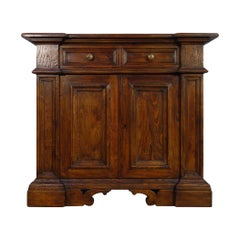 17th Century Style Italian Small Commode in Rustic Old Chestnut, Custom Cabinet