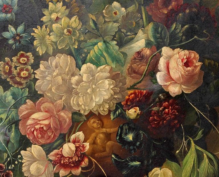 European 17th Century Style Neapolitan Still Life Painting For Sale