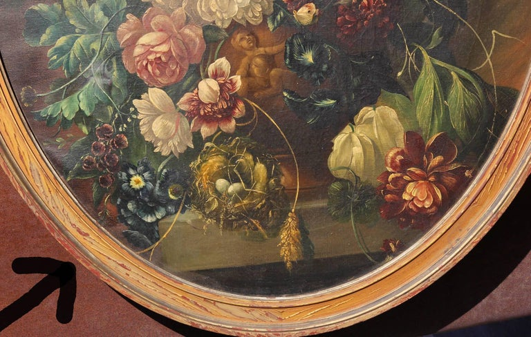 17th Century Style Neapolitan Still Life Painting In Good Condition For Sale In Rochester, NY