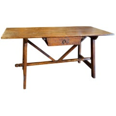17th Century Style Rustic Primitive Handcrafted Farmhouse Custom Table Line