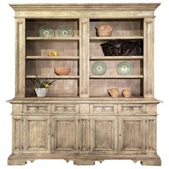 17th Century Style Tuscan Italian Old Fir Library Credenza Available Custom Size