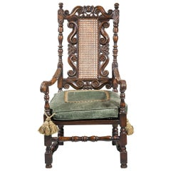 17th Century Style Walnut Armchair
