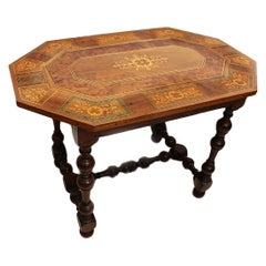 17th Century Table Hache Workshop in Walnut, Ash, Boxwood, Sycamore