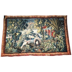 17th Century Tapestry of The Americas Manufactured Royale De Felletin Antiques