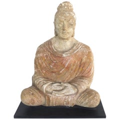 17th Century Terracotta Buddha, Bangladesh, Provenance Royal-Athena Galleries