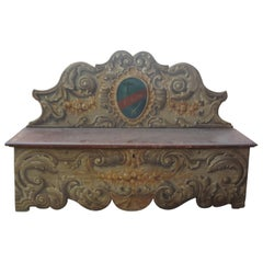 17th Century Tuscan Bench with a Family Crest