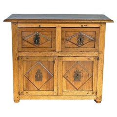 17th Century Two-Drawer, Two-Door Spanish Credenza