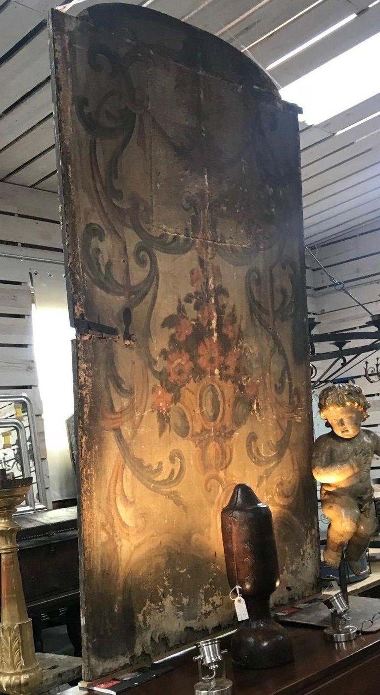 Italian 17th Century Venetian Double Sided Oil Painting Door For Sale